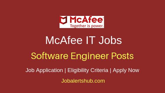 McAfee Software Engineer Job Notification
