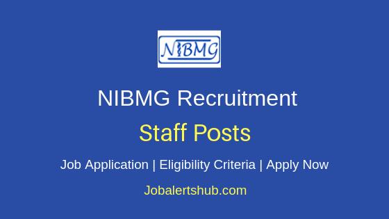 NIBMG Staff Job Notification