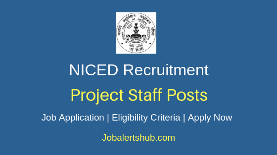 NICED Project Staff Job Notification