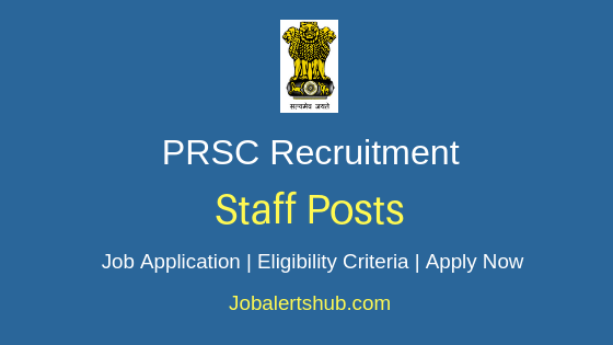 PRSC Staff Job Notification