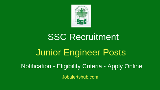 SSC Junior Engineer Job Notification