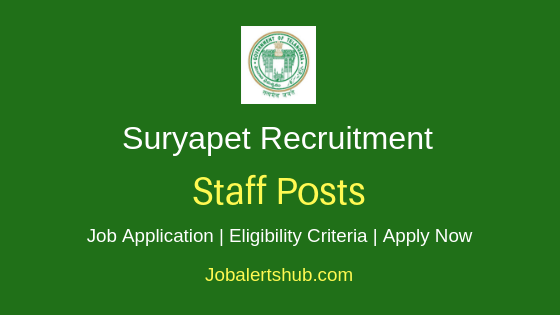 Suryapet District Staff Job Notification
