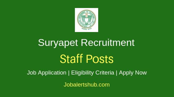 Suryapet District Staff Job Notification
