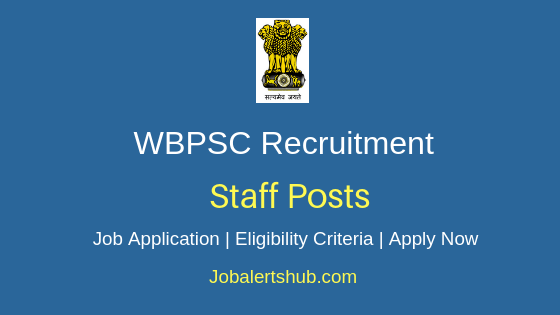 WBPSC Staff Job Notification