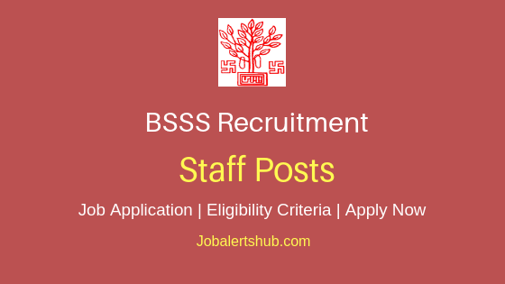 BSSS Staff Job Notification