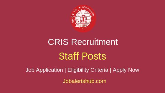 CRIS Staff Job Notification