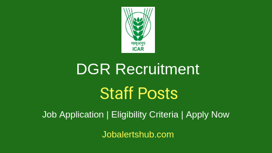 DGR Staff Job Notification
