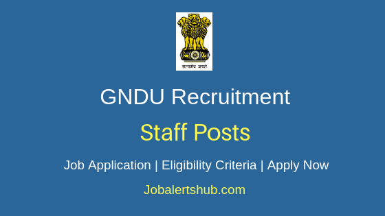 GNDU Staff Job Notification