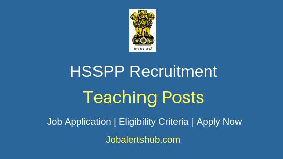 HSSPP Teaching Job Notification