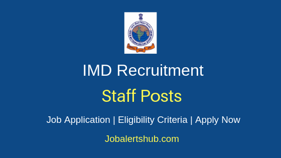 IMD Staff Job Notification