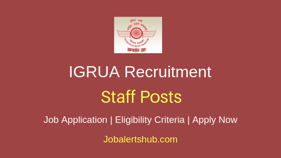 IGRUA Staff Job Notification