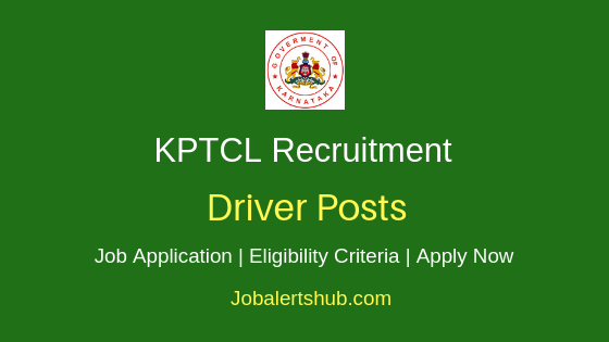 KPTCL Driver Job Notification