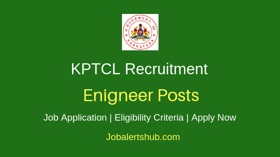 KPTCL Engineer Job Notification