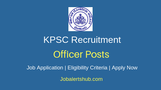 KPSC Officer Job Notification