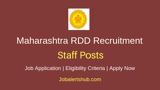 Maharashtra RDD Staff Job Notification