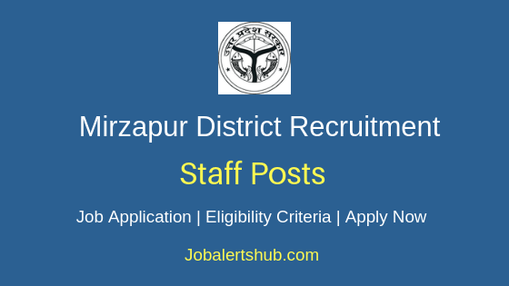 Mirzapur District Staff Job Notification
