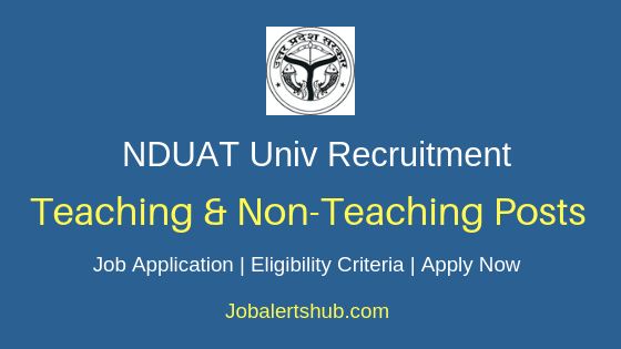 NDUAT Teaching & Non-Teaching Job Notification