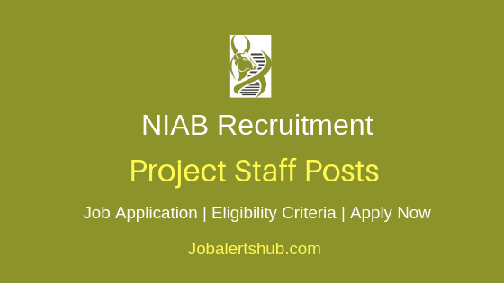 NIAB Project Staff Job Notification