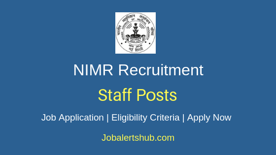 NIMR Staff Job Notification
