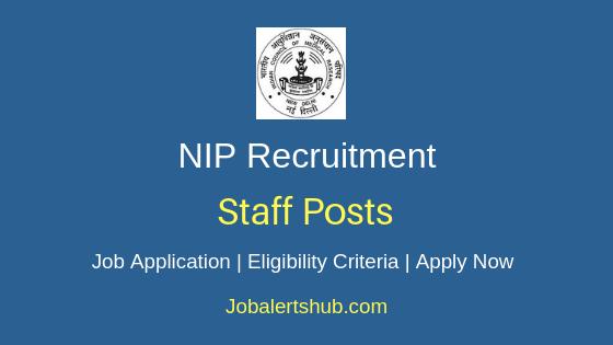 NIP Staff Job Notification