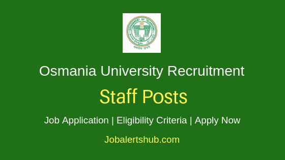 Osmania University Staff Job Notification