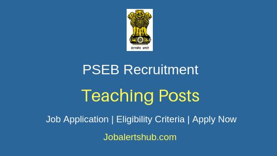 PSEB Teaching Job Notification