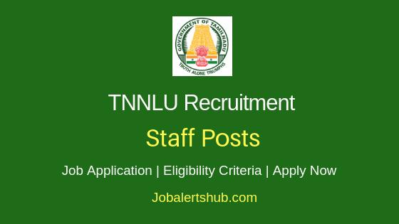TNNLU Staff Job Notification