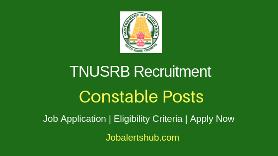 Tamil Nadu Police Constable Job Notification