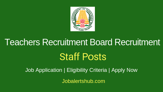 TN TRB Staff Job Notification