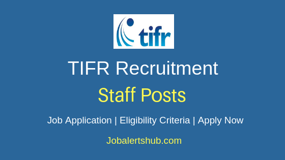TIFR  Staff Job Notification