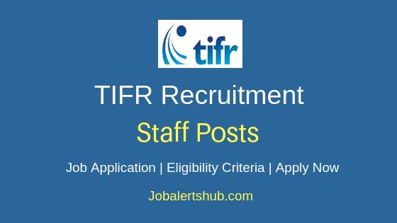 TIFR  Staff Job Notification
