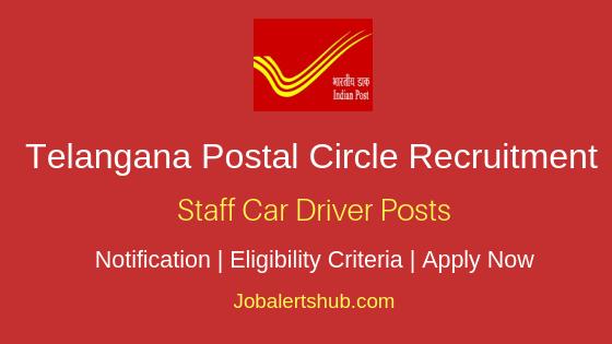 Telangana Postal Circle Staff Car Driver Job Notification