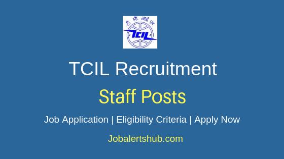 TCIL Staff Job Notification