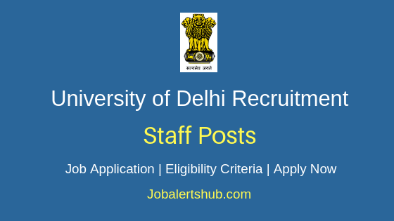 University of Delhi Staff Job Notification
