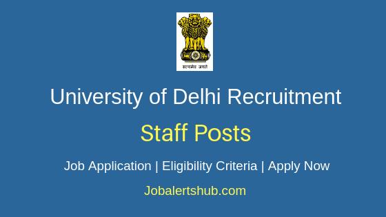 University of Delhi Staff Job Notification