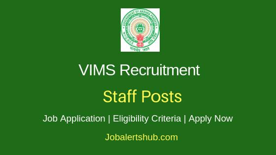 VIMS Staff Job Notification