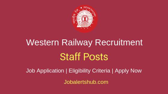 Western Railway Staff Job Notification