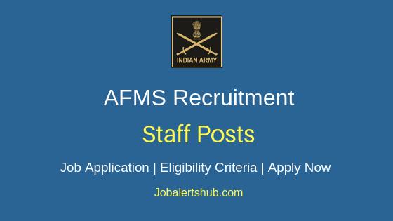 AFMS Staff Job Notification