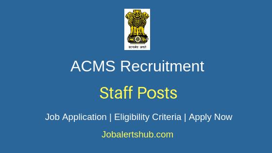 ACMS Staff Job Notification