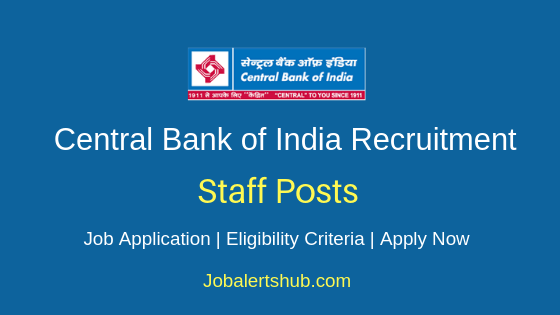 Central Bank of India Staff Job Notification