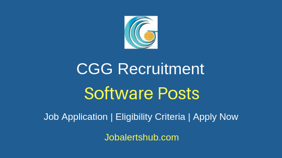 CGG Software Job Notification