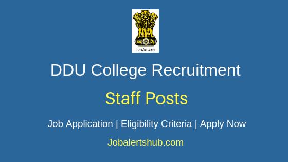 DDU College Staff Job Notification