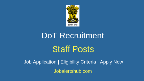 DoT Staff Job Notification