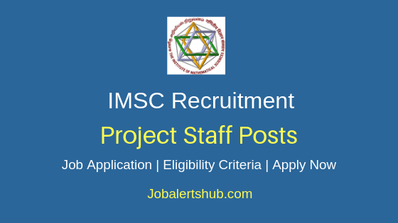 IMSC Project Staff Job Notification