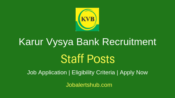 KVB Bank Staff Job Notification