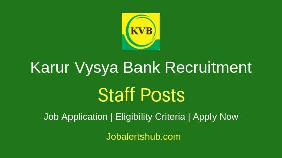 KVB Bank Staff Job Notification