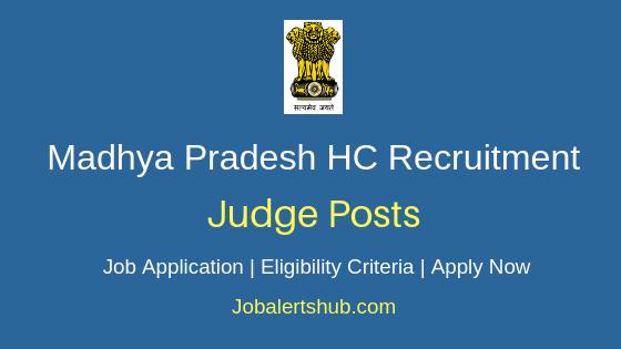 MP High Court Judge Job Notification