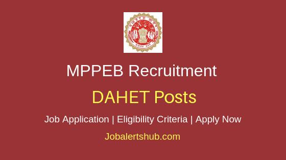 MPPEB DAHET Job Notification