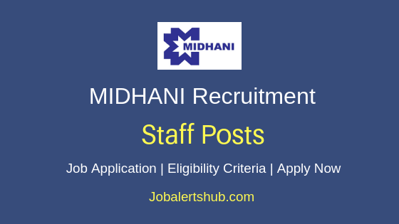 Midhani Staff Job Notification