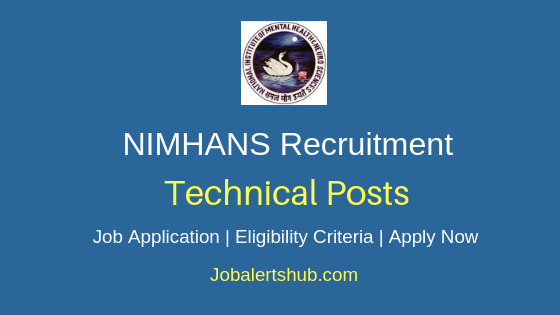NIMHANS Technical Job Notification